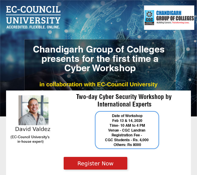 Chandigarh Group of Colleges presents for the first time a Cyber Workshop