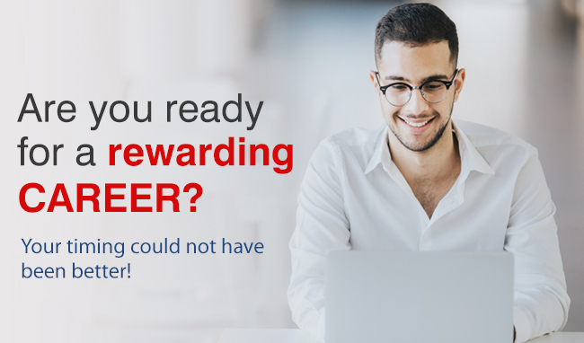 A secure career awaits you! Get trained by the best today
